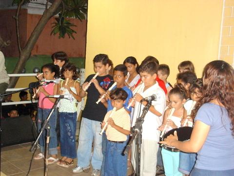 Musicalização - Apresentação de Flauta doce