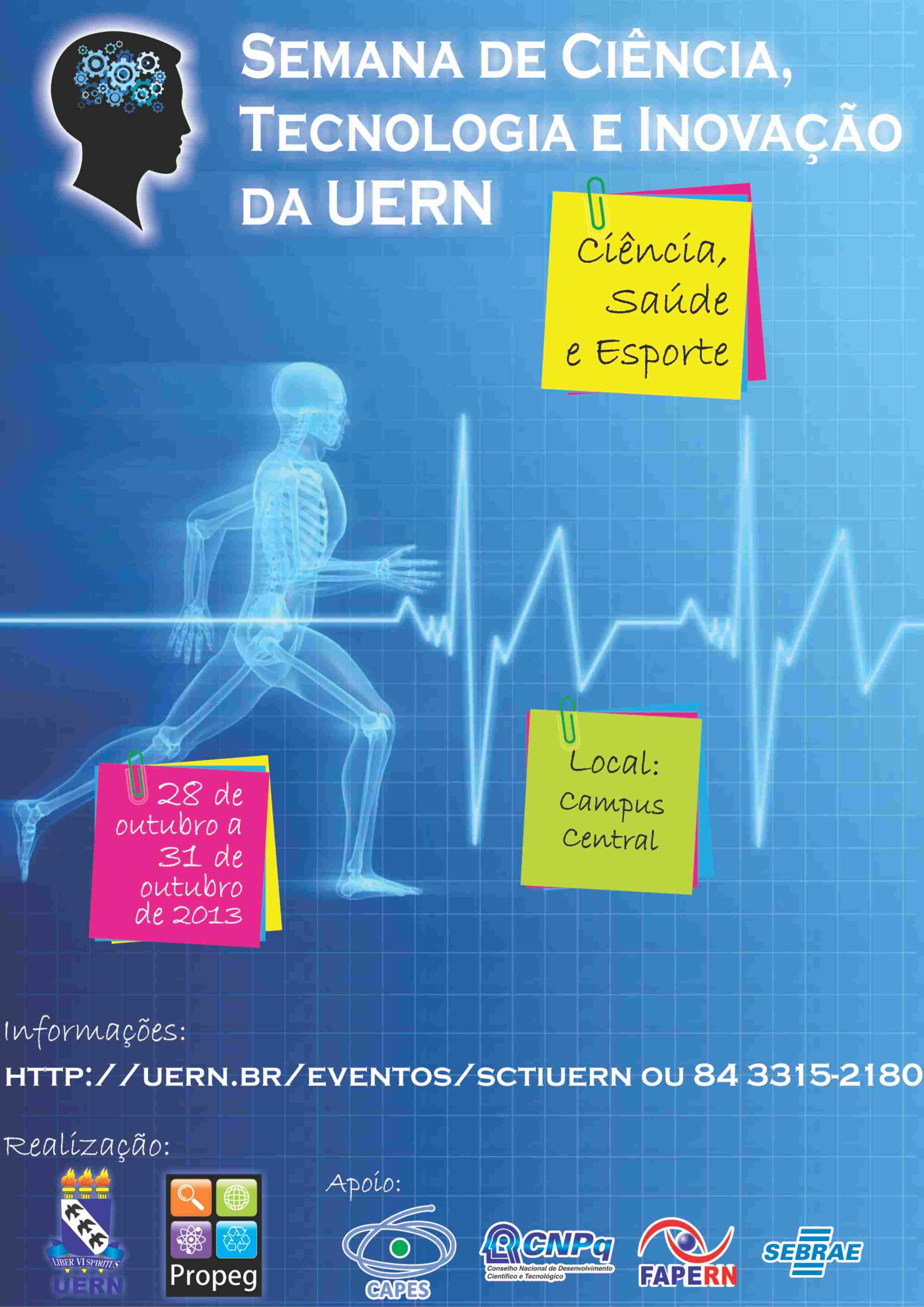 Cartaz da Semana de Ciência, Tecnologia e Inovação da UERN